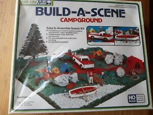 Life Like 1374 HO Build-A-Scene Campground Scenic Kit