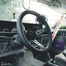 VIILANTE TOURISMO 350MM STEERING WHEEL LEATHER *BLACK STITCH* FITS NISSAN 350Z