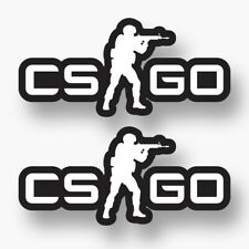 2x COUNTER STRIKE GO Logo Vinyl Sticker Laptop Car Truck Locker CS Go