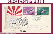 SAN MARINO FDC RODIA XVIII OLIMPIADE TOKYO 1964 (152)