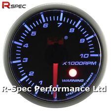 52 mm Azul advertencia de motor paso a paso contador Rev. Medidor De Rpm tacho con luz de advertencia