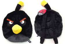 """Rovio Angry Bird/Angry Birds Space Mean Black  14 """" Plush Backpack Tote- NEW!"""