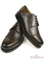 J.Briggs Leder Schuh echt Rahmengenäht Goodyear Welted Cap Toe Derby mokka braun