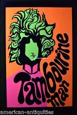 Mr. Tambourine Man Bob Dylan Psychedelic Art Blacklight Poster Woodstock