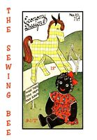 121 Black American Rag Doll and Pet Horse old economy patterns vintage