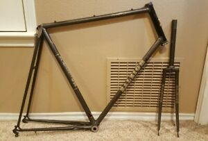 """Vintage 1983 Raleigh Grand Prix USA 502 25"""" Bicycle Frame with Forks"""