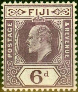 Fiji 1910 6d Dull Purple SG121 Fine Mtd Mint