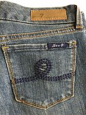Seven 7 Womens jeans size 30 embroidered pocket boot cut denim A-7