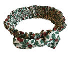 """Longaberger Holly Traditions Large Fabric Basket Garter with Bow 14-24"""""""