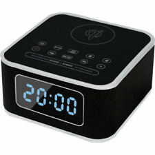 ISTYLE Qi Wireless Charging Station with Digital Alarm Clock & Bluetooth Speaker