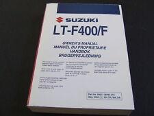 2006 Suzuki LTF400 LT-F400 LTF 400 Quad Owners Manual Handbook