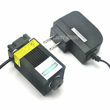 Focusable 450nm 1000mW 1W 12V Blue Laser Dot Module w/ AC Adapter & Fan colling