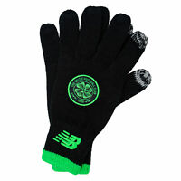 New Balance Mens Celtic FC Knitted Gloves in Black - XS/S