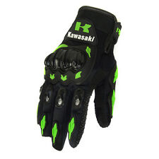 Kawasaki Glove Green Motorcycle Motocross Racing Moto Bike Full Finger Cycling