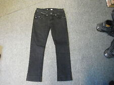 "Miso cropped Jeans Size 8  Leg 25"" Black Faded Ladies Jeans"