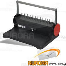 RILEGATRICE A SPIRALI PLASTICHE + PERFORATORE 4 FORI DORSI PLASTICA FINO A 150 F