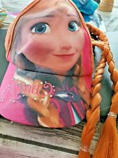 "Disney Frozen Anna Pink Baseball Cap Hat with 20"" Hair Braid Costume"