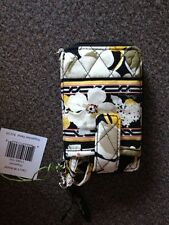 NWT Vera Bradley yellow/black Dogwood Wristlet
