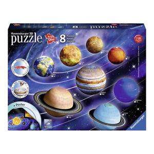 Ravensburger Solar System 522 Piece 3D Jigsaw Puzzle NEW