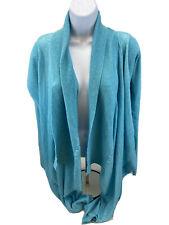 Lululemon Women's Aqua Blue Open Long Sleeve Waterfall Sweater Sz 4/XS