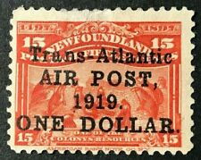 NEWFOUNDLAND Sc#C2 1919 ONE DOLLAR Air Post issue Mint LH OG F/VF (GB-32)