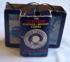 VINTAGE THE ORION FEATHERWEIGHT CAMERA MAGIC LENS ORIGINAL BOX WITH INSTRUCTIONS