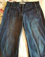 COUNTRY ROAD BLUE ANKLE LENGTH WIDE LEG LIGHTWEIGHT JEANS SIZE 10.