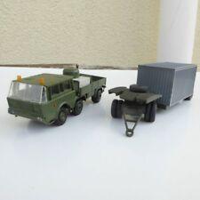 SDV MODEL 87010 RK Model Tatra 813 6 x 6 with Trailer NVA camo color green, H0