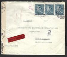 BELGIUM, 1941 WW11 CENSORED COVER TO GERMANY, CENSOR TAPE ETC