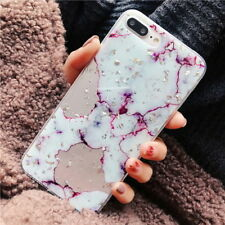 For iPhone X 8 7 6s Plus Luxury Marble Pattern Slim Soft Rubber TPU Case Cover