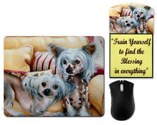 Dog mouse pad, Chinese crested mouse pad, desk accessories, Brooke FaulderArt