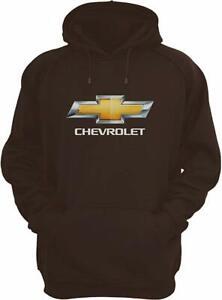 Men's Chevy Chevrolet Bow Tie Pullover Hoodie Brown Sweatshirt CHV9S3GEN3BRN