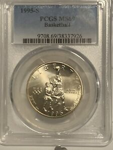 1995-S Olympic Basketball Half Dollar PCGS MS69