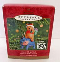 "Vintage Winnie The Pooh Hallmark Ornament ""Eeyore Helps Out"" Disney 2001"