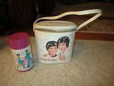 1970's Donny & Marie Vinyl Lunch Bag W/Thermos!