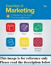Essentials of Marketing 15th NEW Int'l Ed. US Delivery 3-4 bus days/Insurance