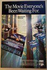 1986 RETURN OF THE JEDI MOVIE VHS PRINT AD MAGAZINE ADVERTISING CBS FOX