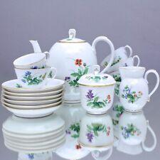 Meissen: Mokkaservice Börner Form, Wiesenblumen, Service, Kaffeeservice Art Deco