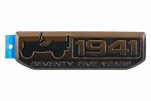 2016-2017 JEEP RENEGADE FRONT LEFT DOOR 75TH ANNIVERSARY EMBLEM NAMEPLATE BADGE