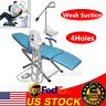 Portable Folding Dental Chair Stool Turbine Unit LED Light Triple Syringe 4HOLE