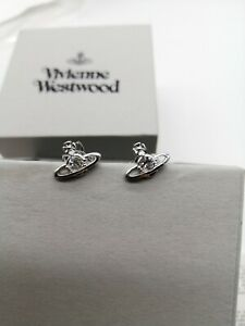 vivienne westwood Mini Small exquisite Silver earrings new
