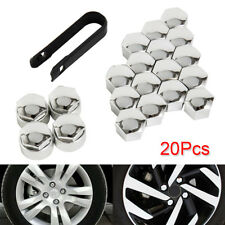 20X Chrome Wheel Nut Caps Bolt Covers FOR Audi VW Vauxhall Bmw Mercedes Wniu