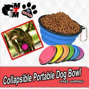 Dog Bowl Collapsible Dish Pet Feeding Portable Water Drink Pop Up Walking Food