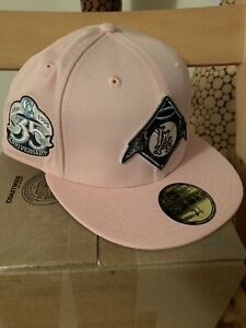 New Era 59Fifty Los Angeles California Angels 35th Anniversary Pink Icy 7 3/8