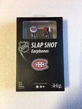 Montreal Canadiens iHip Premium Audio Earphones Earbuds - iPhone iPod NEW