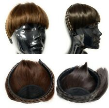 Bob Fringe on Braided Headband Fake False Front Hair Extension Hair Band Gift