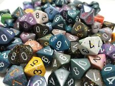 (5) Chessex D10 Random Color Polyhedral Dice Set, 10 Sided Lot Game D&D RPG DnD