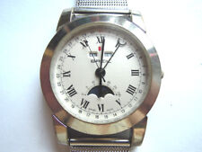 Swiss Breil Triple Date Moonphase Quartz Bracelet Watch Rare