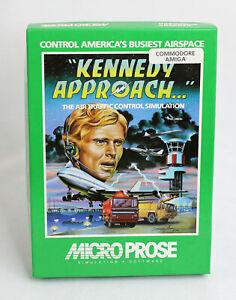MICROPROSE ~ Kennedy Approach AMIGA Air Traffic Control Sim Big Box PC 1985 RARE