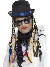 80s Boy George Chameleon Hat Eighties Mens Fancy Dress Costume Accessory